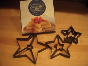 Williams Sonoma Stack and Fill Star Pancake Molds : Set of 3