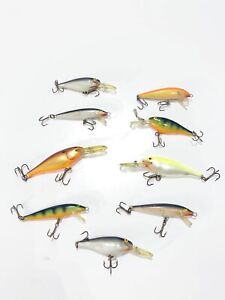 lot of 9 assorted rapala fishing lures free shipping