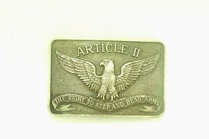 Sterling Silver quot;Right to Bear Arms Belt Bucklequot; Numbered B21133 $180.00