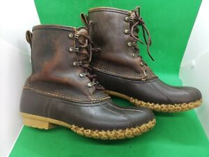VTG L.L BEAN MAINE HUNTING THINSULATE GORE TEX WATERPROOF LEATHER BOOT SIZ 9.5