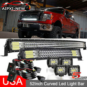 NEW 52 Curved Tri Row LED Light Bar 20 4 Combo For FORD F 150 2004 2020 $132.89