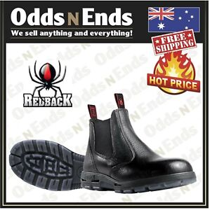 USBBL Redback Work Black Rambler E S Sided Boots STEEL Cap Safety AUS MADE NEW