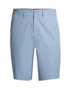 George Shorts Mens Size 44 Blue Flat Front GE Performance Moisture Wicking $17.99