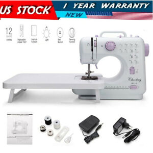 Household Tailor Electric Sewing Machine 12 Stitches 2 Speeds w Extension Table $51.99