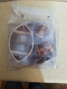 Game day NFL Football Shaped Condiment Bowls party bowl. Salt Pepper shakers