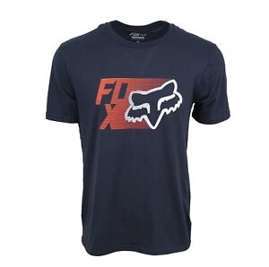 FOX RACING MENS TRACK TEE NAVY $11.95