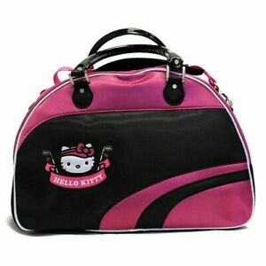 NEW HELLO KITTY Diva Boston Bag BLACK PINK Special Bargain Sale