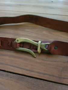 Handmade LeatherMan Leather Belt With Hook Eye Closure Boho Style
