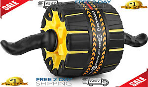 Ab Roller Abs Workout Pro Wheel Abdominal Home Gym Exercise Equipment $30.99