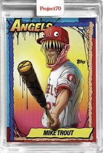 2021 Topps Project 70 #79 1990 Mike Trout Monster by Alex Pardee SP IN HAND