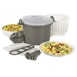Prep Solutions by Progressive Microwaveable Rice and Pasta Cooker 17 Piece Set