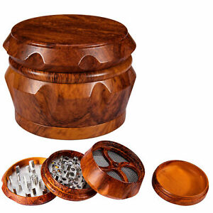 Tobacco Herb Grinder Large Metal 2.5quot; 4 Piece Magent Sharp Teeth Spice Crusher $13.70