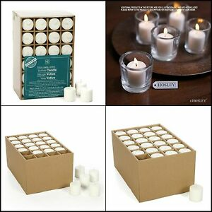 Hosley Set of 72 Unscented White Votive Candles up to 10 Hours Wax Wedding Event $28.45