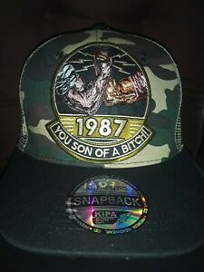 Predator 1987 son of a bitch snapback mesh cap camouflage for movie fans