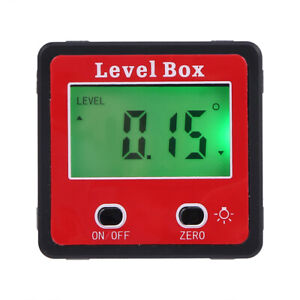 Magnet Digital Inclinometer Level Box Protractor Angle Finder Gauge Meter W6W6 $15.00