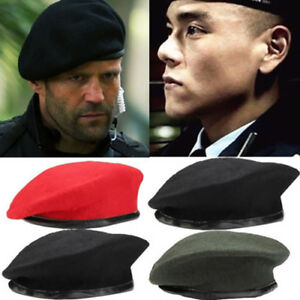 Unisex Fashion Military Army Soldier Style Wool Beret Hat Cap Adjustable Outdoor $10.99