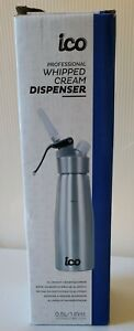 Silver ICO Professional Whipped Cream Dispenser for Delicious Homemade Pint