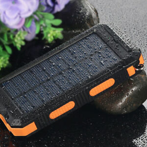 2021 New 900000mAh USB Portable Charger Solar Power Bank For Cell Phone
