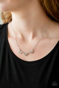 Paparazzi Jewelry Necklace Another Love Story silver $3.50