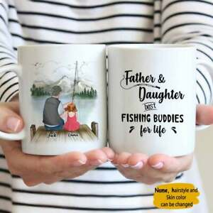 Father amp; Daughter Best Fishing Buddies For Life Personalized Mug Gift For Dad
