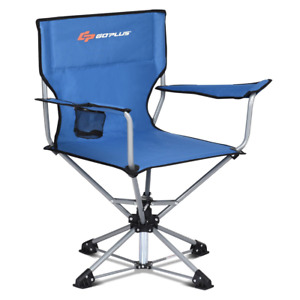 Collapsible Portable Swivel Camping Chair 360°Free Rotation Picnic Fishing Seat