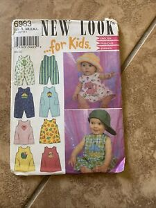 New Look For Kids Sewing Pattern 6983 Size A NBsml $5.00