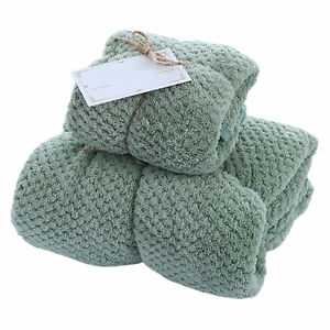 Coral Fleece Absorbent Hand Easy Clean Towel Set Thicken High Density Bath Wrap $19.34