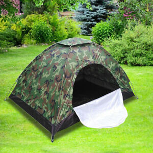 Outdoor Camouflage Camping Tent Foldable Quick Shelter Hiking for 3 4 Persons