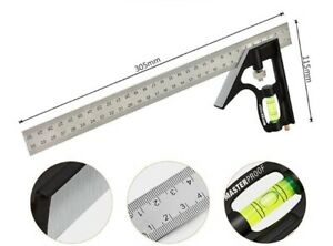 300mm Adjustable Engineers Combination Try Square Set Right Angle Ruler 12quot; $24.75
