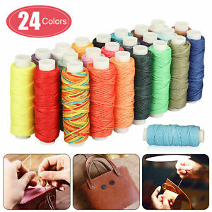 12 Colors Cotton Spool Sewing Thread Polyester Assorted Waxed Cords Tool Kit Set $10.98