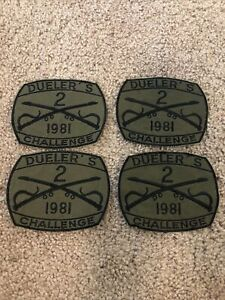 Vintage Army Dueler's Challenge 2nd ACR Cavalry 1981 Pocket Patch $14.99