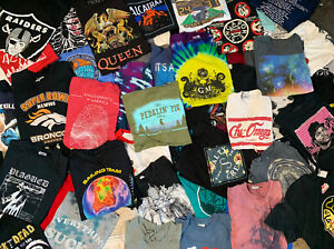 5 T shirt Lot Pick a Size VTG Nike Sports Tie Dye Bands Movies Carhartt Graphics $29.99
