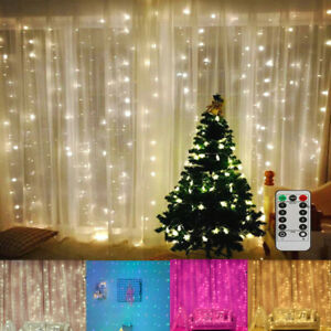 300LED 10ft Curtain Fairy Hanging String Lights Wedding Party Wall Decor Lamp US $14.53