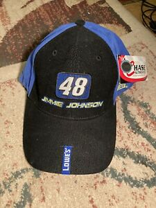 """Chase Authentics Jimmie Johnson #48 Hat fitted look adjustable Lowe's """"NEW """" $18.85"""