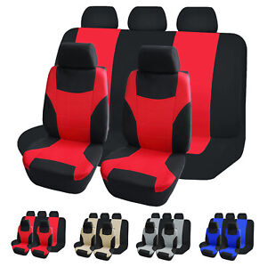 Car Seat Cover 5 Seater Full Set Protectors Universal Fit for Auto Truck Van SUV $13.89