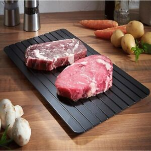 Fast Defrosting Tray Rapid Thawing Board Safe Defrost Meat Frozen Food Plate S