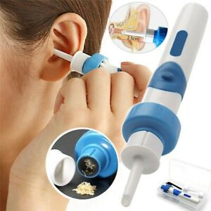 Safety Electric Cordless Vacuum Ear Cleaner Wax Remover Painless Cleaning Tool $6.66