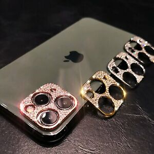 For iPhone 12 11 Pro Max Mini Diamond BLING Metal Camera Lens Protector Cover $3.29