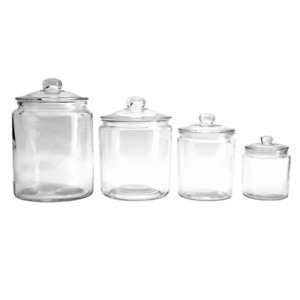 Apothecary 4 Piece Kitchen Canister Set