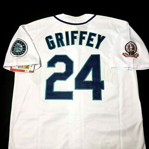 Ken Griffey Jr Jersey Seattle Mariners 1995 Throwback Stitched NEW With Tags $83.99