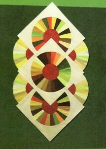 Whirliwheel Wall Quilt Sewing Wall Quilt Pattern Fan Block $10.99