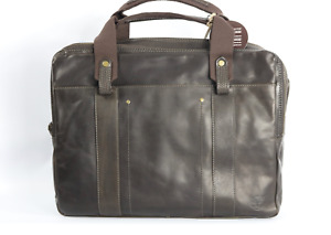 Timberland Earthkeepers Winnegance Mens Leather Briefcase Black Coffee