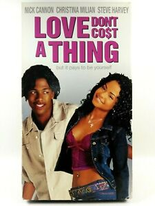 Love Don#x27;t Cost a Thing VHS 2004 Nick Cannon Christina Milian Steve Harvey $25.00