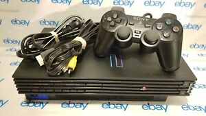 Sony PlayStation 2 PS2 Fat Console System Complete Bundle Tested and Working $124.99