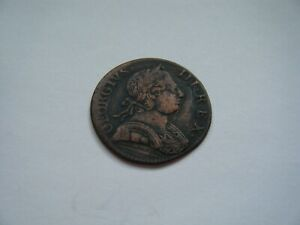 George III non regal and US colonial halfpenny 1775 #x27;Young Head family#x27; $35.00