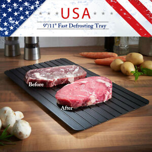 Defrosting Tray Fast Rapid Thawing Safe Defrost Kitchen Meat Thaw Frozen Food US