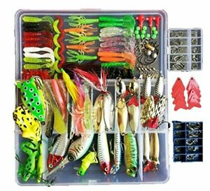 275pcs Freshwater Fishing Lures Kit Fishing Tackle Box with Tackle Included