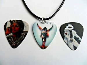 New MICHAEL JACK Guitar Pick Plectrum Leather Necklace Three To Choose new $6.90