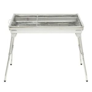 Stainless Steel Folding Portable Charcoal Barbecue BBQ Grill Stove Home Outdoor