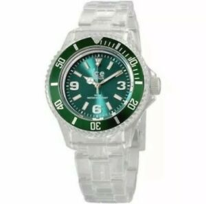 Ice Pure Green Dial Plastic Strap Small Unisex Watch PU.FT.S.P.12 NEW